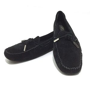 UGG Australia Tie Bow Suede Driving Moccasin